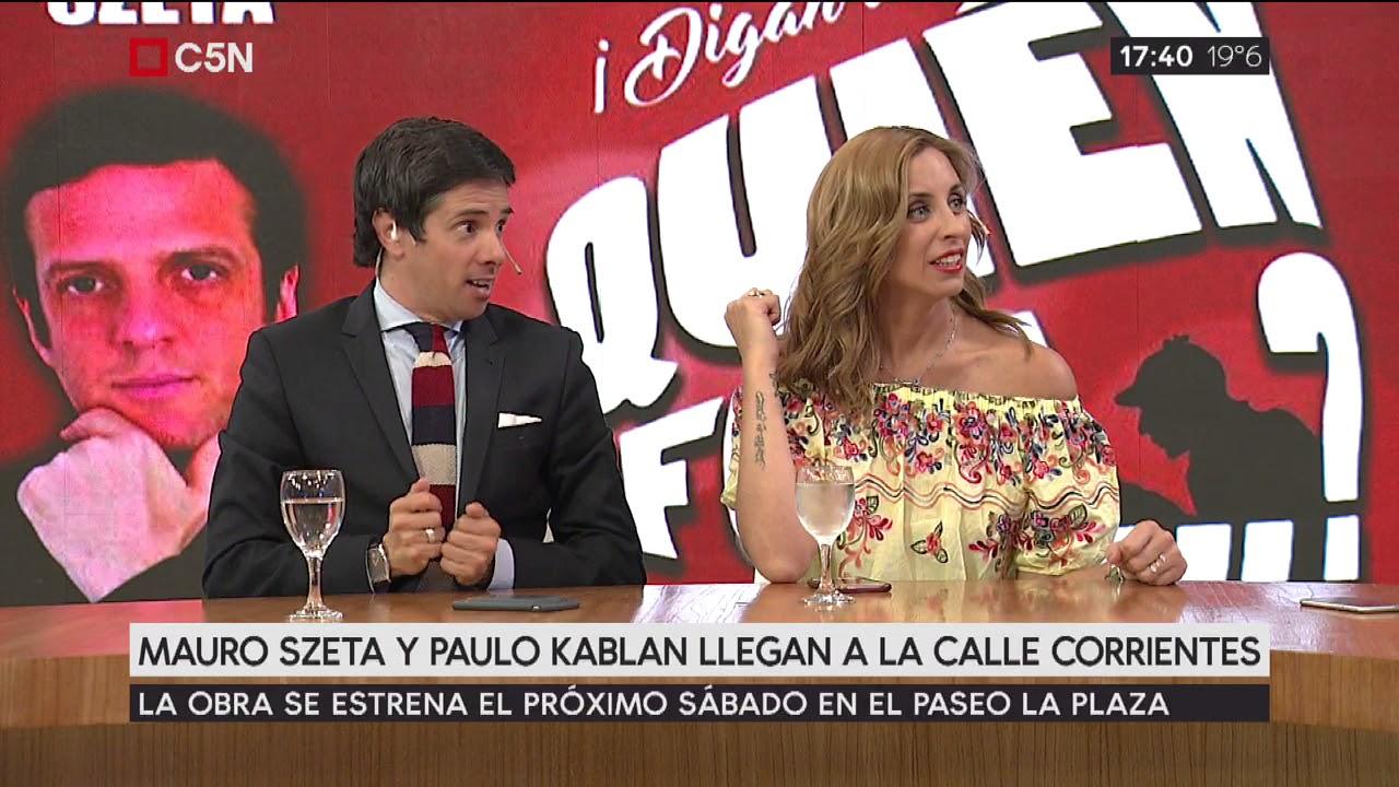 Mauro Szeta Y Paulo Kablan Llegan A La Calle Corrientes