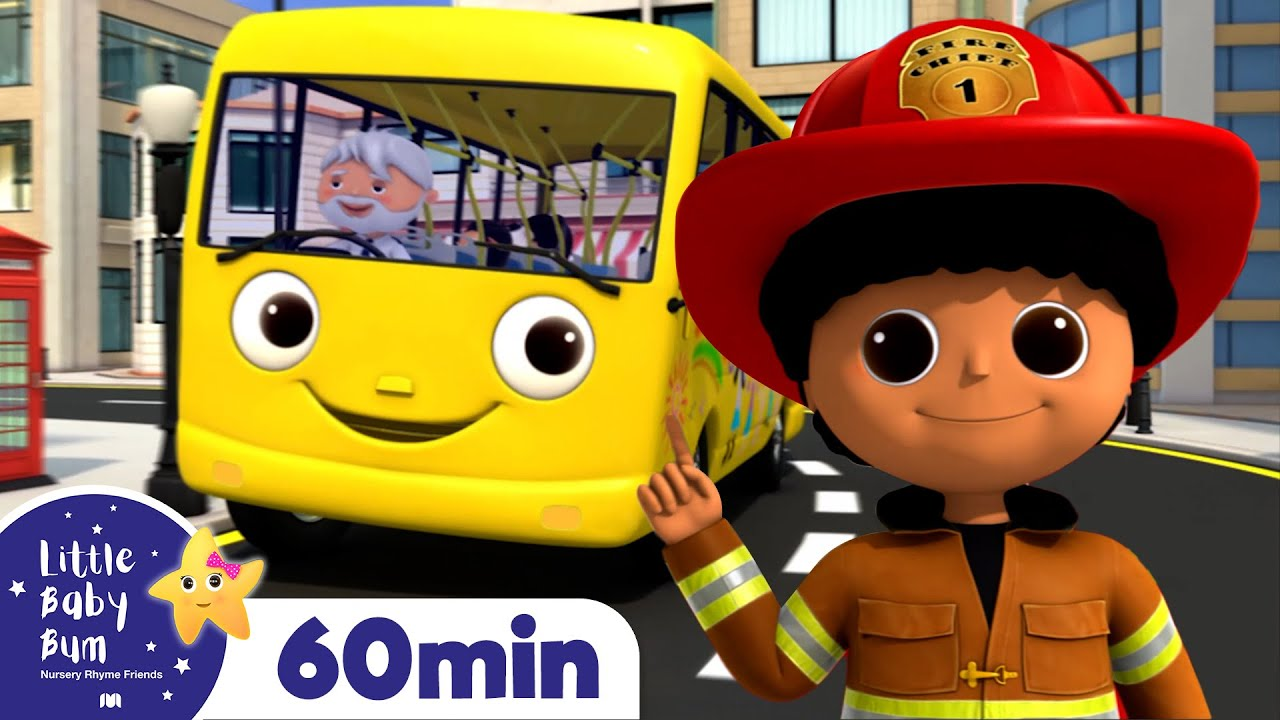 Wheels On The Bus and Fire truck +More Nursery Rhymes and Kids Songs | Little Baby Bum