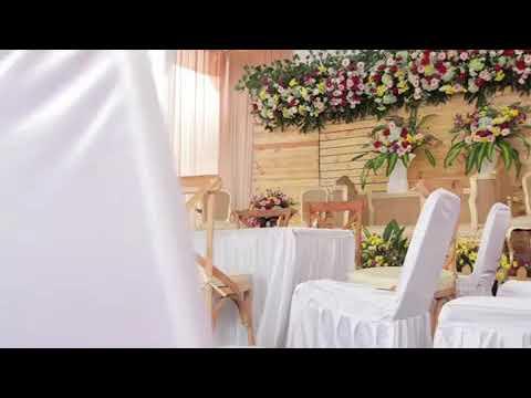 dekorasi rustic pernikahan di rumah mewah tapi murah - youtube