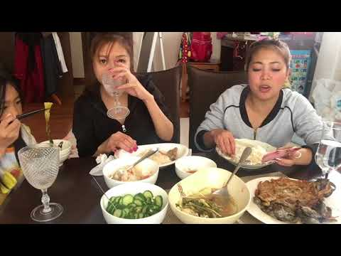 MUKBANG pinoy Food Sinigang, tortang talong, danggit, ensaladang radish Pinay sa Japan