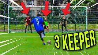 FUßBALL CHALLENGE VS 3 TORHÜTER ABONNENTEN BATTLE