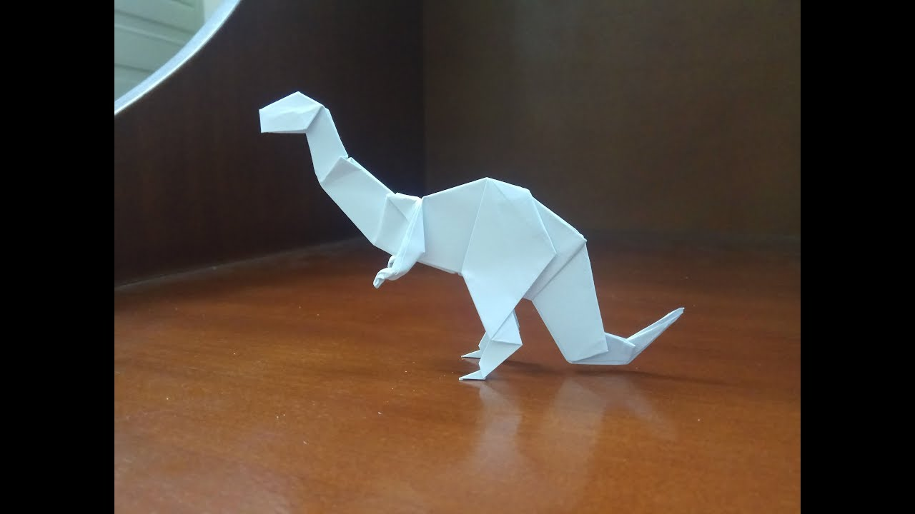 How to make a ORIGAMI DINOSAUR TRICERATOP | paper Dinosaur - YouTube | 720x1280