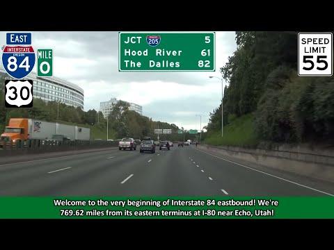 Interstate 84 East in Portland, Oregon