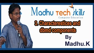 3 Characterestices and dbmd components