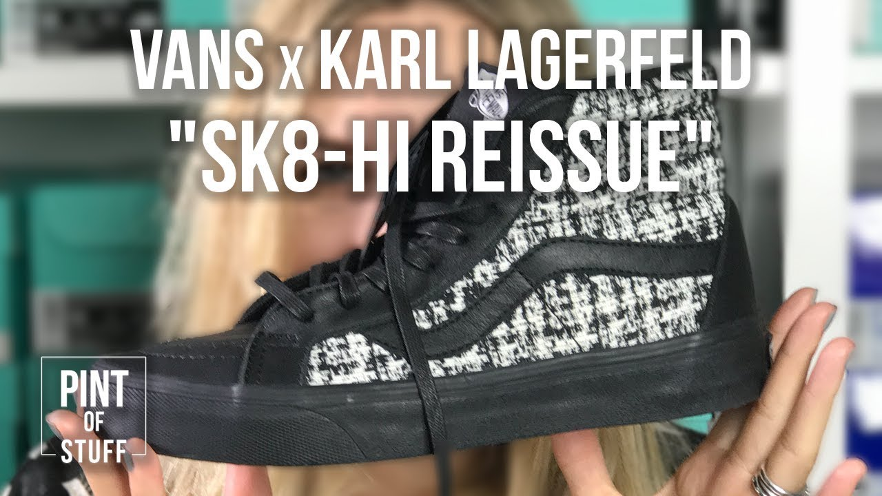 72347bcf6d Vans x Karl Lagerfeld  Sk8-Hi Reissue  Unboxing with SJ - YouTube
