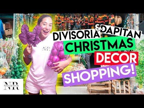DIVISORIA AT DAPITAN CHRISTMAS DECOR SHOPPING + HAUL (MAY BAGONG CHRISTMAS TREE!)  | Nina Rayos 💋
