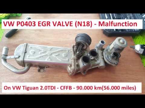 EGR Fault P0403 - VW Tiguan 2013 - 2.0 TDI CFFB
