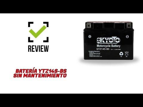 ¿Cómo instalar una batería de moto sin mantenimiento? | KYOTO YTZ14S-BS