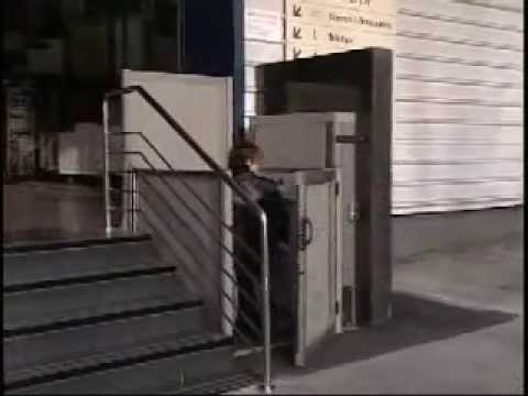 Garaventa elevador vertical para silla de ruedas youtube for Sillas ascensores para escaleras precios