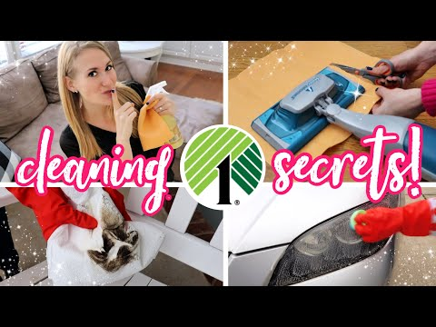 $1 DOLLAR TREE CLEANING SECRETS! (expensive Companies Don't Want You To Know!)