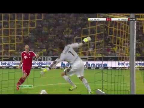 Robben Goal & Van Buyten Own Goal Borussia Dortmund 3 1 Bayern Munich