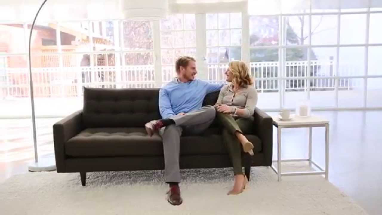 Crate And Barrel: Petrie Sofa   YouTube