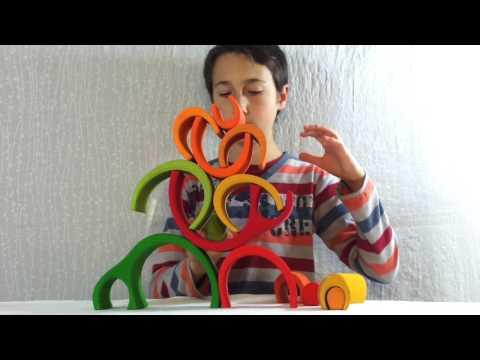 Jouet gigogne en bois Jeu créatif