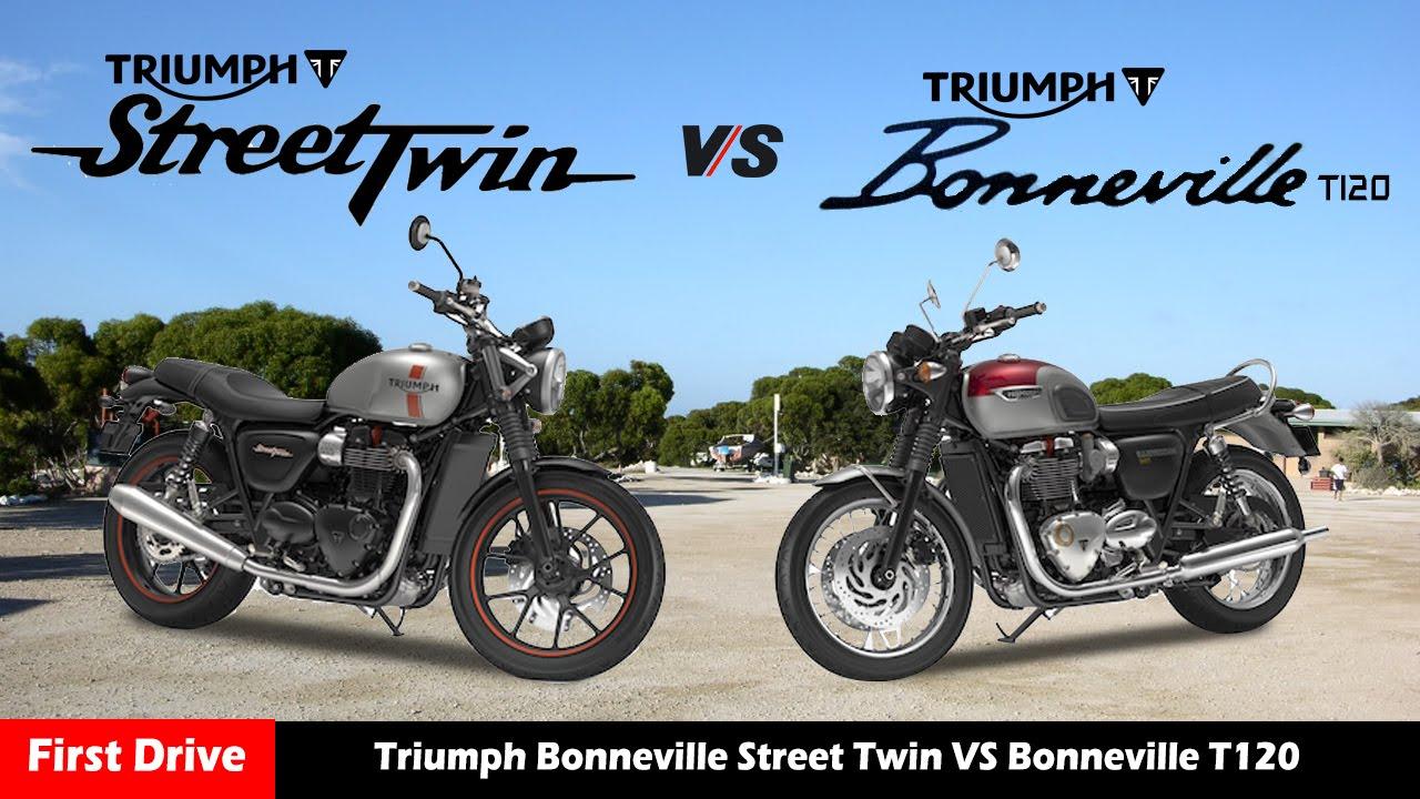 Triumph Bonneville Street Twin Vs Bonneville T120specification