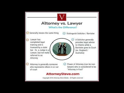 Attorney vs. Lawyer, what's the difference?