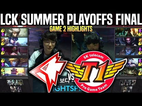 GRF Vs SKT Game 2 Highlights LCK Summer Playoffs Final - Griffin Vs SKT T1 Game 2 Highlights LCK