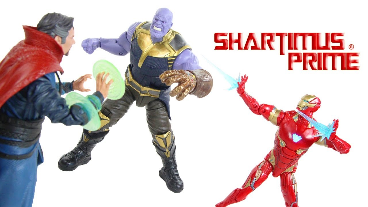 4220fbd7cae Marvel Legends Thanos Dr Strange Iron Man Avengers Infinity War Marvel  Studio First 10 Years Review