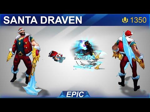 Santa Draven Skin Spotlight 2020   SKingdom - League of Legends