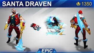 Santa Draven Skin Spotlight 2020 | SKingdom - League of Legends