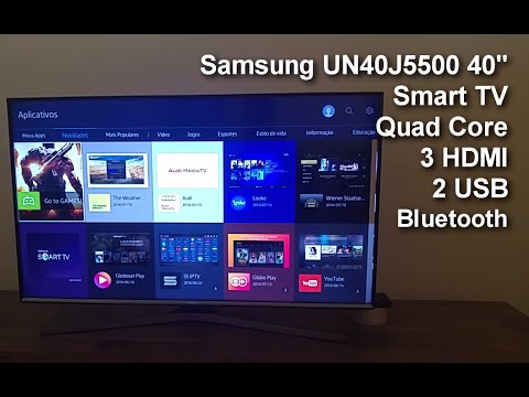 review samsung un40j5500 smart tv 5500 teste youtube. Black Bedroom Furniture Sets. Home Design Ideas