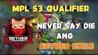 MPL S3 Qualifier - Aether Exile vs ACE Players - R3 Best Of 1 - Mobile Legends