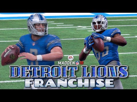 Madden NFL 18 Detroit Lions Franchise EP1 - Franchise Set-Up + Week 1 vs Arizona Cardinals