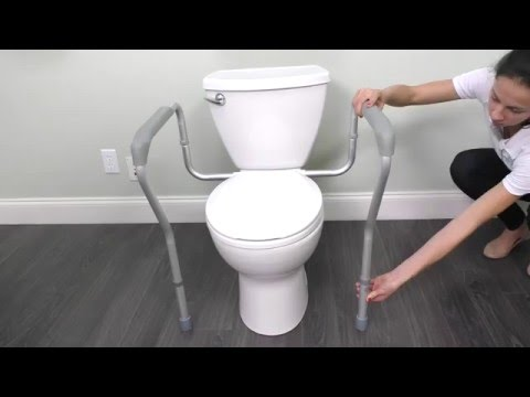How To Assemble The Toilet Safety Rail - Vive Health