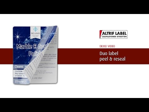 Duo peel & reseal etiket | Altrif Label