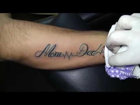 Love You Mom Dad Tattoo Youtube