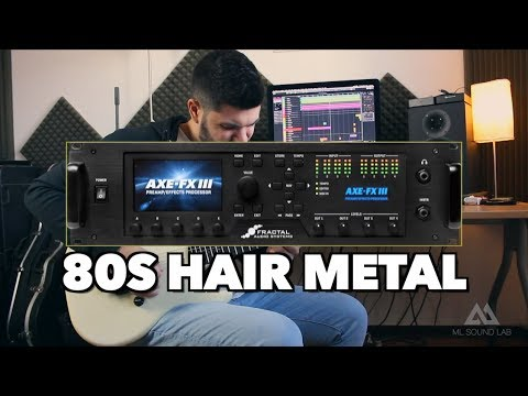 AXE FX III - 80s Hair Metal Cab Pack By ML SoundLab [DEMO]