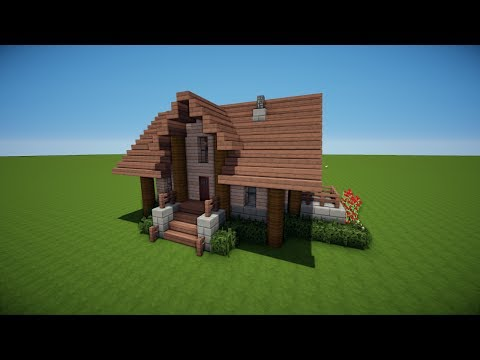 Download video minecraft holzhaus bauen tutorial haus 47 - Minecraft dach bauen ...