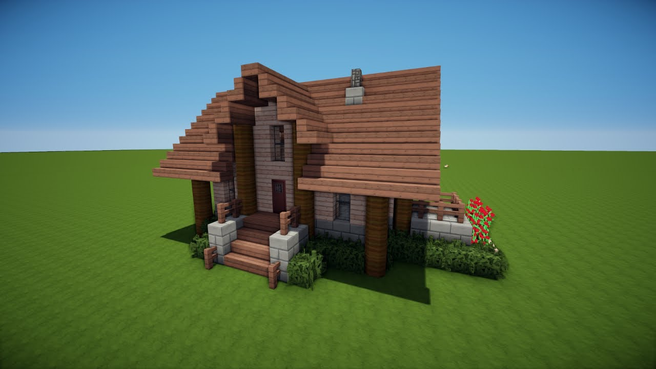 Minecraft holzhaus bauen tutorial haus 47 youtube for Minecraft haus bauen