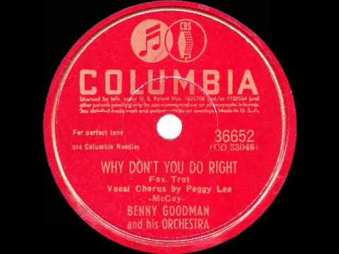1943 HITS ARCHIVE: Why Don't You Do Right - Benny Goodman (Peggy Lee, vocal)