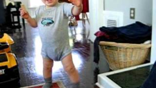Milo Walking. Please Ignore that he's peed his pants.
