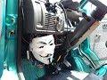 ガイ・フォークス・マスクのライト Guy Fawkes mask light