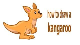 How to draw a kangaroo, draw animals, #children, #YouTubeKids