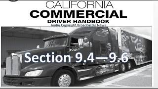 dmv cdl hand book audio calif 2017 section 9 4 9 6