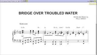 Simon & Garfunkel - Bridge over Troubled Water Piano Sheet Music [Teaser]
