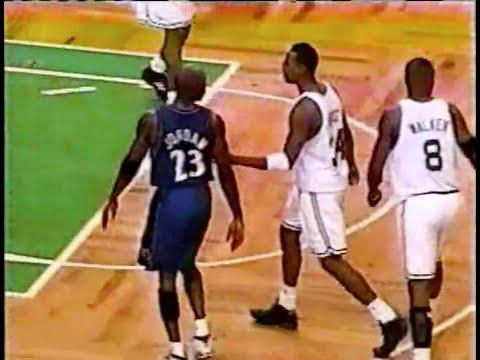 Michael Jordan (Age 38) Good Defense on Paul Pierce