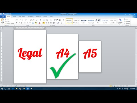 How to Make Different Page Sizes in Microsoft Word