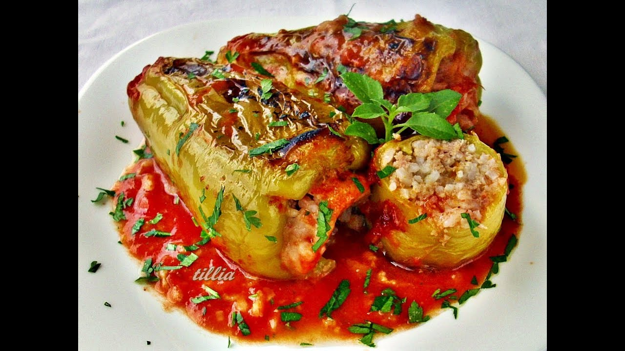 перец фаршированный мясом готовим дома