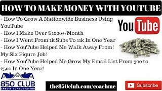How To Make $1000+/Month Or Grow Your Business With YouTube - Passive Income Online 2018,ECommerce