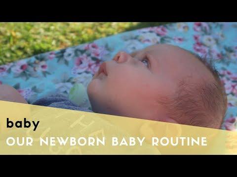 NEWBORN BABY ROUTINE - BABY SLEEP ROUTINE, BOTTLE FEEDS & BABY PLAY
