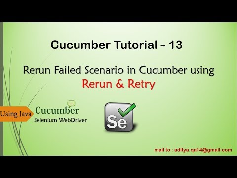 Rerun Failed Scenarios in Cucumber Different Ways - YouTube