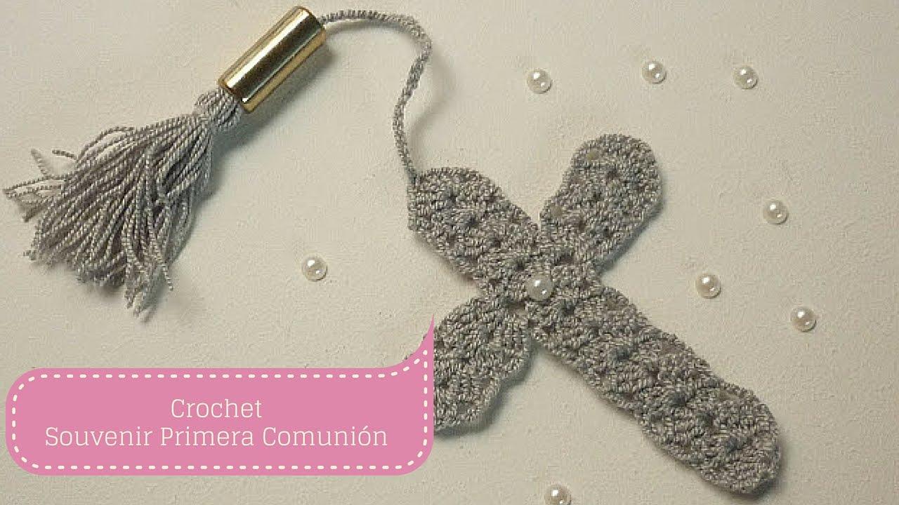 Manualidades: SOUVENIR de Primera Comunión/Crochet DIY ♥ - YouTube