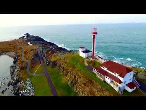 Cape Forchu & Bunker Island Lighthouses, Nova Scotia, Canada, via drone (#LighthouseProject)
