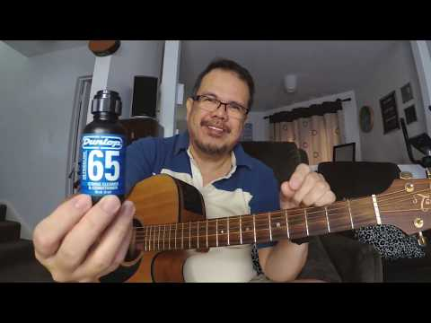 Dunlop 65 String Cleaner and Conditioner Test on Old Guitar Strings