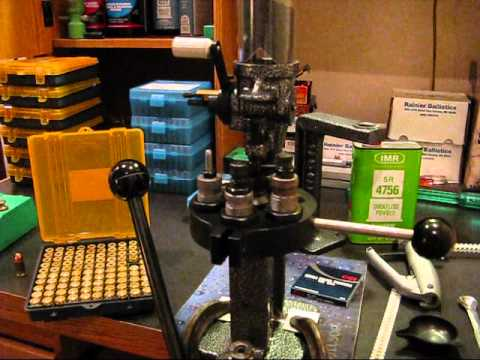 Reloading with the Lyman T-Mag II turret press.