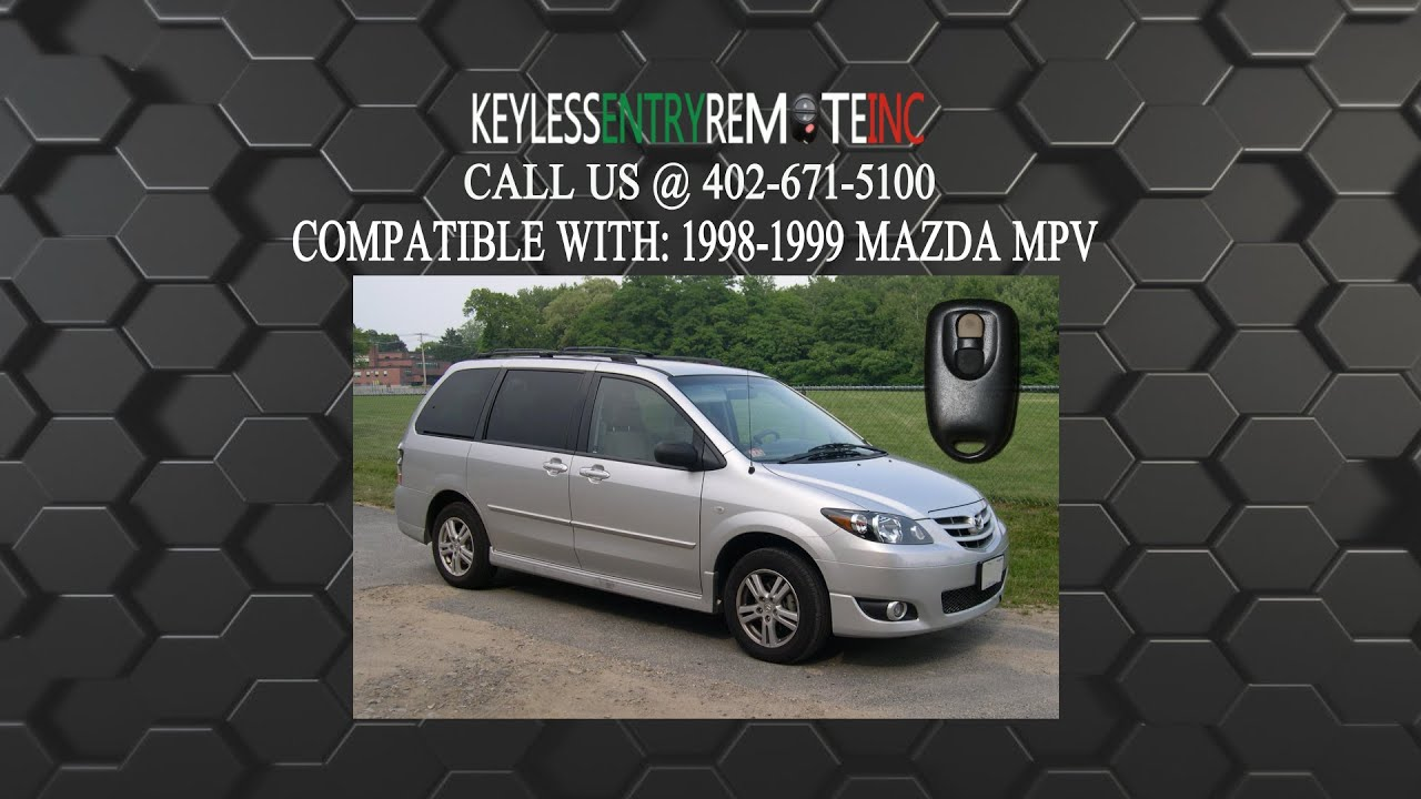 How to replace mazda mpv key fob battery 1998 1999