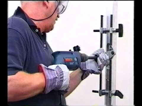 Souber Tools Dbb Morticer Fitting A Lock To An Aluminium
